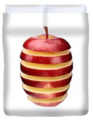 Abstract Apple Slices Duvet Cover by Johan Swanepoel