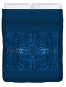 Abstract Blue Electric Circuit Future Technology_oil Painting On Canvas Duvet Cover by Nenad Cerovic
