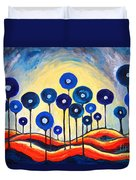 Abstract Blue Symphony  Duvet Cover by Ramona Matei