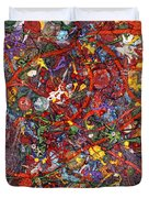 Abstract - Fabric Paint - Sanity Duvet Cover by Mike Savad