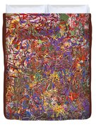 Abstract - Fabric Paint - String Theory Duvet Cover by Mike Savad