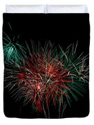 Abstract Fireworks Duvet Cover by Robert Bales