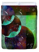 Abstract - Floaters Duvet Cover by Liane Wright