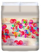 Abstract Floral  Duvet Cover by Mark Ashkenazi