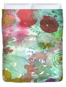 Abstract Garden Duvet Cover by Linda Woods