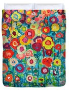 Abstract Garden Of Happiness Duvet Cover by Ana Maria Edulescu