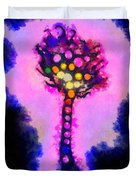 Abstract glowball tree Duvet Cover by Pixel Chimp