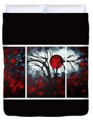 Abstract Gothic Art Original Landscape Painting Imagine By Madart Duvet Cover by Megan Duncanson