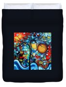 Abstract Landscap Art Original Circle Of Life Painting Sweet Serenity By Madart Duvet Cover by Megan Duncanson