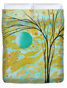 Abstract Landscape Painting Animal Print Pattern Moon And Tree By Madart Duvet Cover by Megan Duncanson
