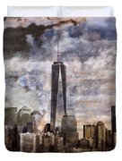 Abstract Manhattan Skyline Duvet Cover by Dan Sproul