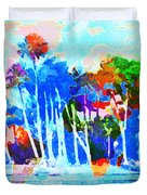 Abstract Map Duvet Cover by Gary Grayson