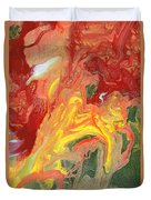 Abstract - Nail Polish - In A State Of Flux Duvet Cover by Mike Savad