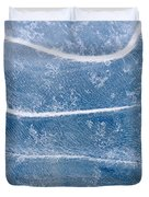 Abstract Patterns In The Ice During Duvet Cover by Kevin Smith