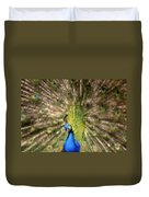 Abstract Peacock Digital Artwork Duvet Cover by Georgeta Blanaru