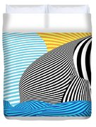 Abstract - Sailing Duvet Cover by Mike Savad
