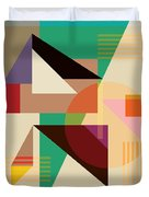 Abstract Shapes #4 Duvet Cover by Gary Grayson