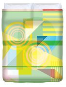 Abstract Shapes #5 Duvet Cover by Gary Grayson
