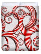 Abstract - Spirals - Peppermint Dreams Duvet Cover by Mike Savad