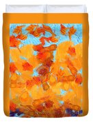 Abstract Summer Duvet Cover by Pixel Chimp