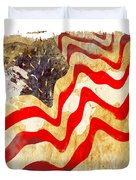 Abstract Usa Flag Duvet Cover by Stefano Senise