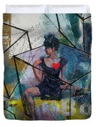 Abstract Woman 002 Duvet Cover by Corporate Art Task Force