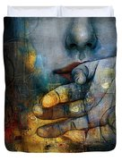 Abstract Woman 011 Duvet Cover by Corporate Art Task Force
