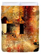 Abstracture - 103106046f Duvet Cover by Variance Collections
