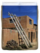 Acoma Pueblo Adobe Homes 3 Duvet Cover by Mike McGlothlen