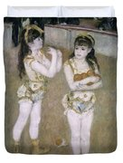 Acrobats At The Cirque Fernand Duvet Cover by Pierre Auguste Renoir