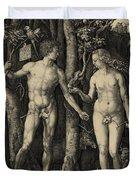 Adam And Eve In The Garden Of Eden - Albrecht Durer 1504 Duvet Cover by Daniel Hagerman