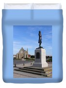 Admiral Lord Nelson And Royal Garrison Church Duvet Cover by Terri Waters
