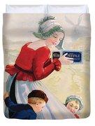 Advertisement For Chocolat Au Lait Duvet Cover by Anonymous