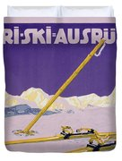 Advertisement For Skiing In Austria Duvet Cover by Carl Kunst