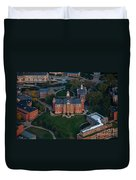 Aerial Of Woodburn Hall Duvet Cover by Dan Friend