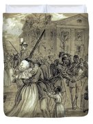 African American Soldiers Return Home From War - 1866 Duvet Cover by Daniel Hagerman