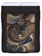 African Spirits I Duvet Cover by Ricardo Chavez-Mendez