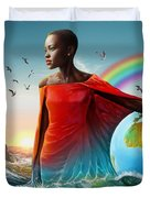 The Lupita Tsunami Duvet Cover by Anthony Mwangi