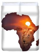 African Wildlife Map Duvet Cover by Johan Swanepoel