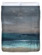 After The Storm- Abstract Beach Landscape Duvet Cover by Linda Woods