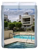 Afternoon Swim Palm Springs Duvet Cover by William Dey