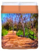 Afternoon Walk Duvet Cover by Michael Pickett