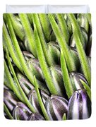 Agapanthus Buds Duvet Cover by Joy Watson