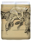 Agglomeration Duvet Cover by Cecil Charles Windsor Aldin
