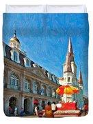 Ahh...new Orleans Impasto Duvet Cover by Steve Harrington