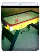 Air Hockey Table Duvet Cover by Les Cunliffe