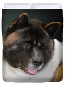 Akita - A Dog's Tale Duvet Cover by Christine Till