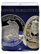 Akron Police Memorial Duvet Cover by Gary Yost