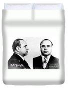 Al Capone Mug Shot Duvet Cover by Edward Fielding