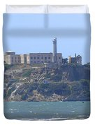 Alcatraz Island Duvet Cover by Mike McGlothlen